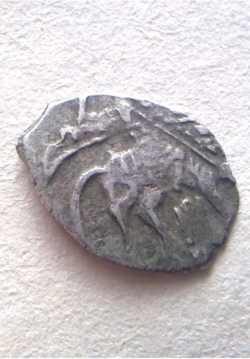 Копейка совместного правления Софьи Алексеевны с именем Петра КГ 1544