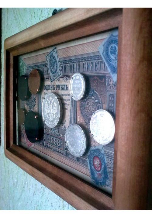 """Рамка """"1 рубль кредитным билетом и звонкой монетою"""""""