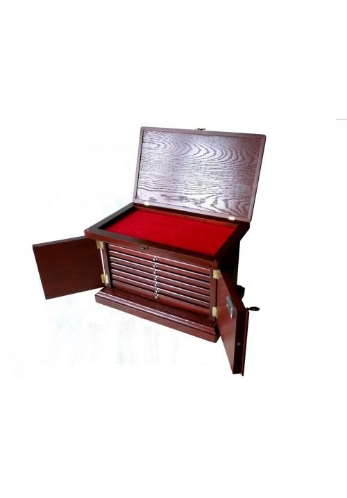 "МЮНЦКАБИНЕТ (шкаф для монет) ""Черешня-ольха"" на 250-300 монет"